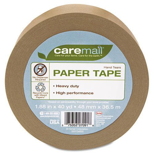 "Paper packaging tape, heavy-duty 6.1 mil, 1.88"" x 40yds"