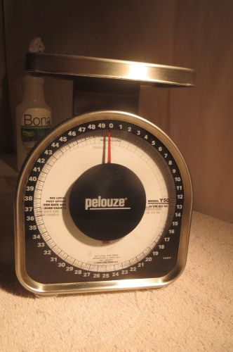 Pelouze y50 mechanical scale 50 lb x 2 oz. capacity nice condition!