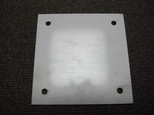 "304 stainless sheet plate with (4) ~ 13/32"" mounting holes ~  1/4"" x 8"" x 8"""