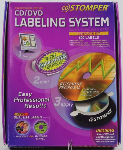 Avery cd/dvd labeling system complete kit 600 labels & software new open box