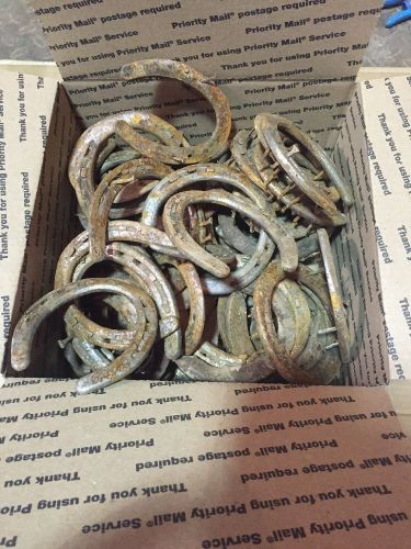 60 horse shoes used lot nice decor reuse repurpose art lucky charm real steel
