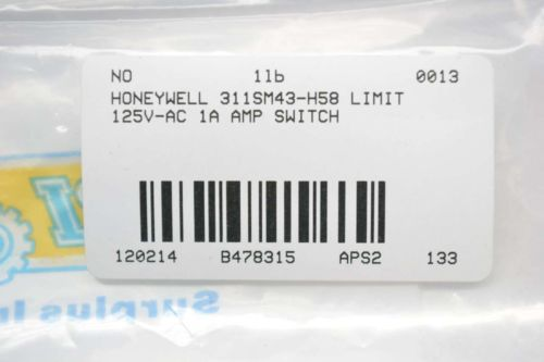 NEW HONEYWELL 311SM43-H58 LIMIT 125V-AC 1A AMP SWITCH B478315, US $10.00 � Picture 3