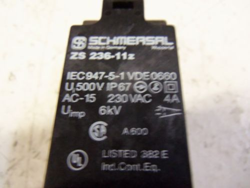 SCHMERSAL ZS 236-11Z LIMIT SWITCH *USED*, US $20.00 � Picture 3
