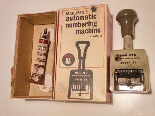 Vintage maruzen's automatic numbering machine made in japan !!