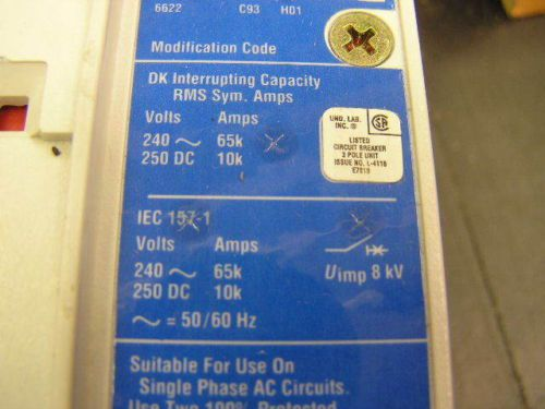 Circuit Breaker CUTLER HAMMER DK65K 300 A 240 v Cat. DK3300W Therm Mag Trip Unit, US $149.00 – Picture 9