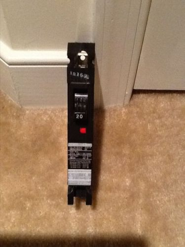 Siemens 20a 277 v single pole breaker