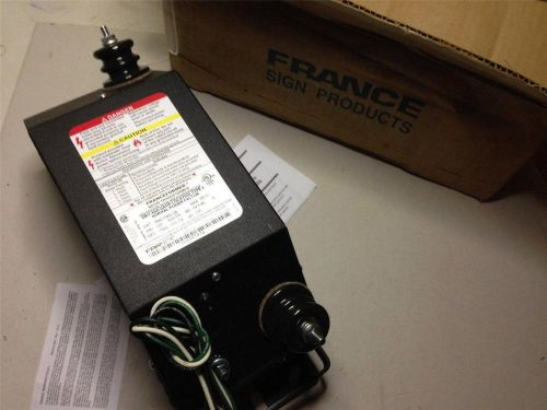 France franceformer outdoor neon tranformer 9060 p5g-2, type 2, 60ma, 120v