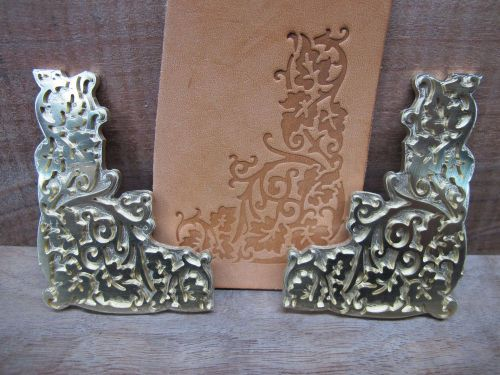 Brass grape vine leather bookbinding letterpress stamp embossing die set