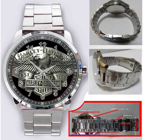 Harley davidson eagle stainless steels sport metal watch men's christmas gift