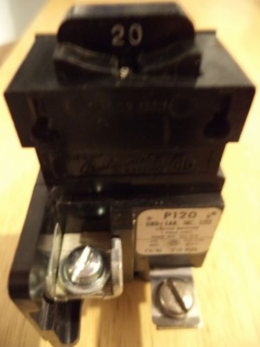 PUSHMATIC Bulldog 20 Amp 1 Pole Circuit Breaker P120 120/240V TESTED, US $11.99 � Picture 3