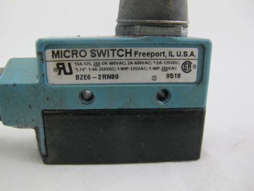 MICRO SWITCH BZE6-2RN80 9518 SWITCH W/VALVE *60 DAY WARRANTY* (BR), US $39.99 � Picture 2