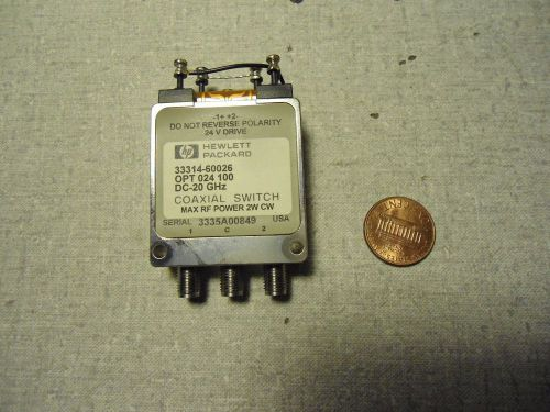 Hewlett packard 33314-60026 coaxial switch