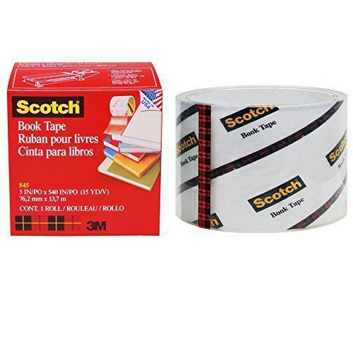 Scotch� book tape 845, 3 inches x 15 yards