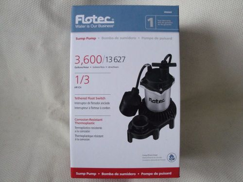 Flotec fpzs33t 1/3 hp sump pump high-output performance