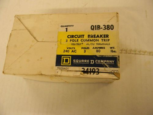 SQUARE D 80 AMP 3 POLE CIRCUIT BREAKER Q1B380 ........  YC-150, US $19.99 � Picture 1