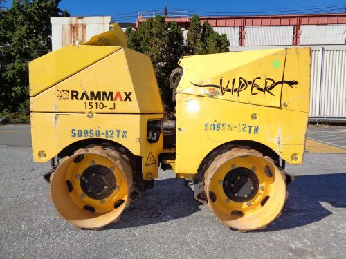 2011 rammax 1510-ci trench roller compactor - diesel - remote operable