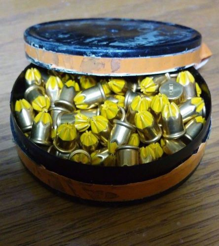 British made ucan safety cartridges 6.3 / 10 low / med .25 caliber short orange