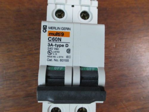 NEW Merlin Gerin Multi 9 C60N3A Type D 240vac 60155, US $10.00 � Picture 2