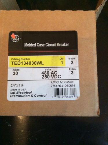 GE Molded Case Circuit Breaker TED134030WL, US $75.00 � Picture 2