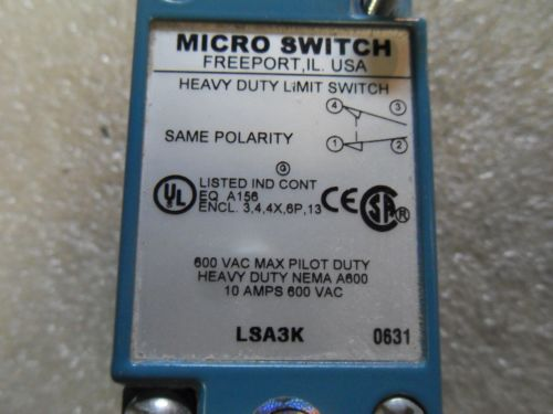 (v23-1) 1 used micro switch lsa3k heavy duty limit switch body