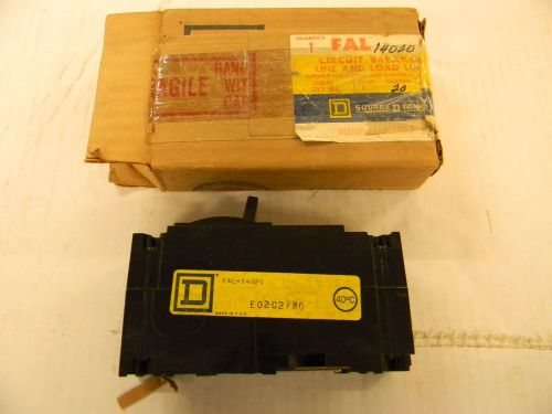 Square d fal14020 circuit breaker 1 pole 20 amp new in box