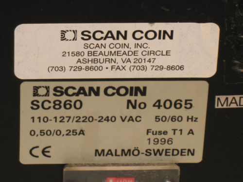 Scan Coin SC860 Bill Counter Money Currency SC-860 Counting Machine