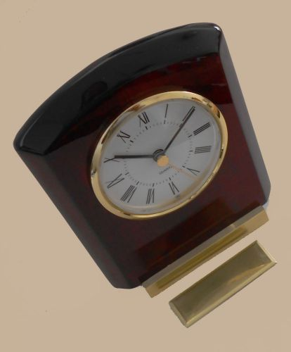 Desktop wooden high gloss mahagony clock