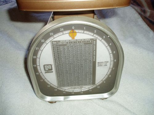Pelouze scale co. model y-25 y-line scale up to 25 lbs