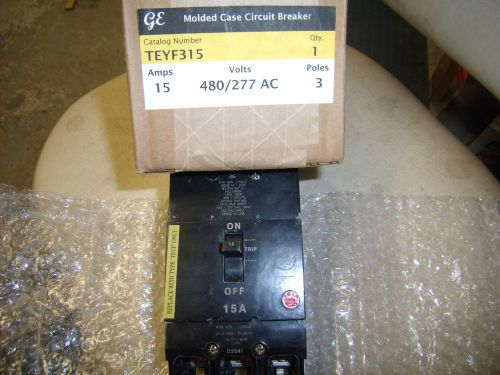 Ge teyf315 molded case circuit breaker 480/277v brand new