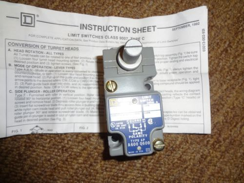 NEW SQUARE D C52B2 SER.A NEW!! CLASS 9007 1N.O./1N.C. LIMIT SWITCH � Picture 5
