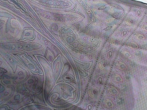"Silk chiffon oblong scarf 19"" x 66"" violet blue raspberry paisley ColdwaterCreek, US $9.99 � Picture 2"