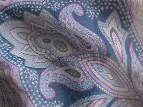 "Silk chiffon oblong scarf 19"" x 66"" violet blue raspberry paisley ColdwaterCreek, US $9.99 � Picture 5"