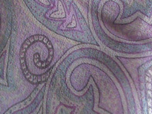 "Silk chiffon oblong scarf 19"" x 66"" violet blue raspberry paisley ColdwaterCreek, US $9.99 � Picture 6"