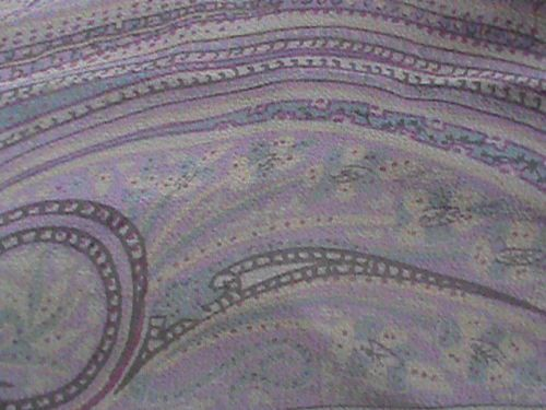 "Silk chiffon oblong scarf 19"" x 66"" violet blue raspberry paisley ColdwaterCreek, US $9.99 � Picture 7"