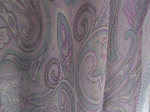 "Silk chiffon oblong scarf 19"" x 66"" violet blue raspberry paisley ColdwaterCreek, US $9.99 � Picture 8"