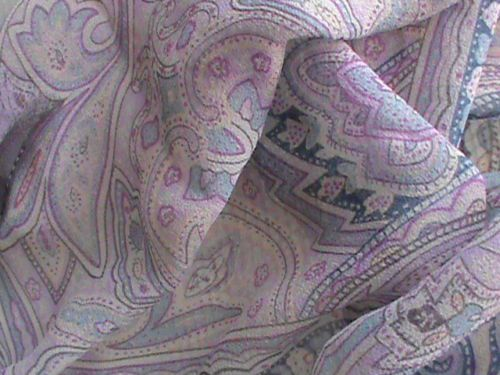 "Silk chiffon oblong scarf 19"" x 66"" violet blue raspberry paisley ColdwaterCreek, US $9.99 � Picture 9"