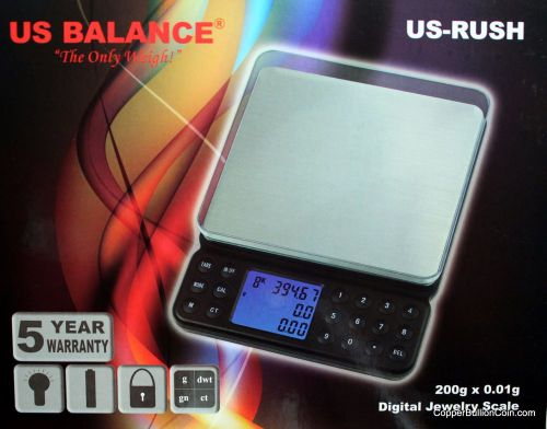 Gold price calculating 200g x .01 digital scale 1 touch calibration us guarantee