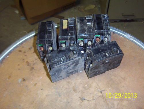 6 SQUARE D ~ QO240 ~ 20 amp 2 pole ~ SNAP IN CIRCUIT BREAKERS, US $40.00 � Picture 3