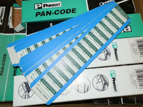Panduit pan-code calibration tags - inspection tags - pcwl-cal - 12 box pack