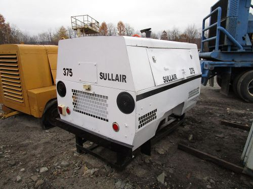 Sullair 375 cfm air compressor runs & works john deere turbo diesel engine