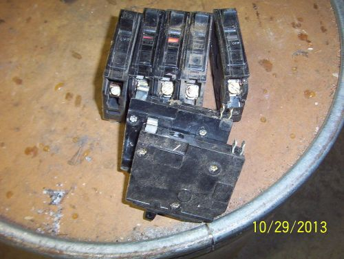 7 square d ~ qo ~ 20 amp single pole ~ snap in circuit breakers