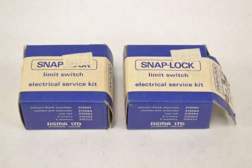 Lot 2 new sigma 375001 electrical snap lock limit switch service kit b309829