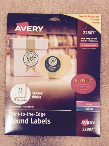 Avery easy peel permanent print-to-the-edge round labels laser/inkjet 2-i... new