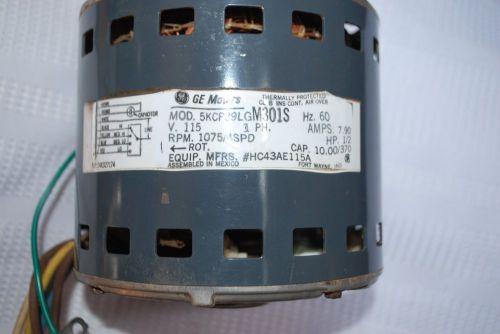 GE FURNACE MOTOR 5KCP39NG 1/2 H P    TZSupplies com