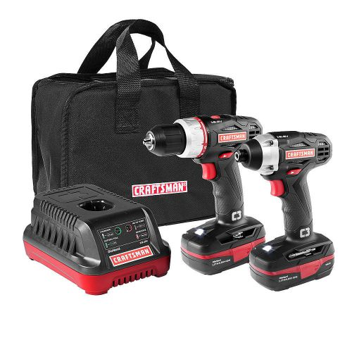 New mechanic craftsman c3 19.2v drill and impact driver combo kit garage kit