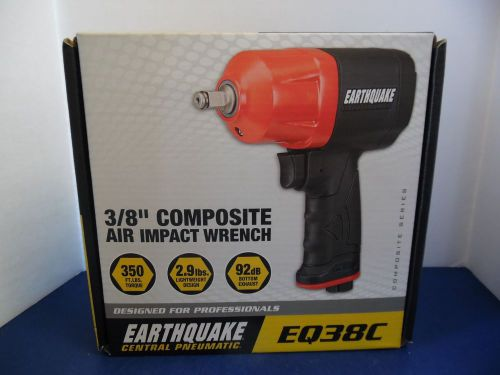Central pneumatic 3/8 air impact wrench earthquake eq38c new   k399