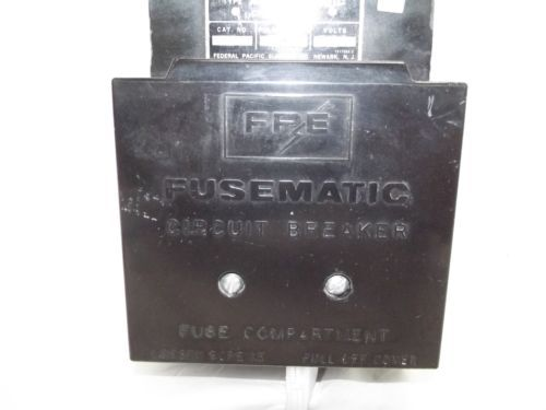Federal Pacific Fusematic Circuit Breaker 100 Amp 600 Volt Part # XF-632100, US $350.00 � Picture 2