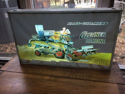 Vintage alis chambers gleaner lighted sign