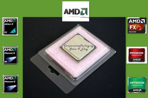 Amd cpu case clamshell fits fx opteron athlon phenom processors -  qty 40 new
