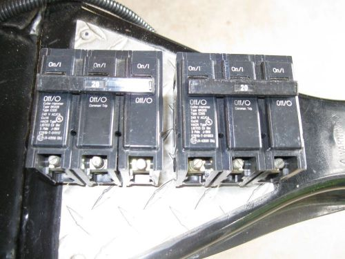 Challenger c320-20 amp 3 pole 240 volt breakers- ( lot of 2)  price reduced !!!